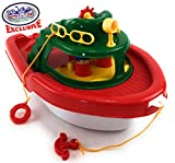 Matty's Toy Stop Deluxe (17') Large Plastic Boat, Perfect for Bath, Pool, Beach Etc. (17' Long x 10' Wide x 8.5' Tall)