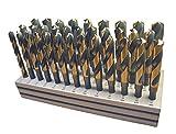 Viking taladro y herramienta 92401plateado y Deming 33SP tipo 280-ub Magnum Super–Juego de brocas de vástago reducido