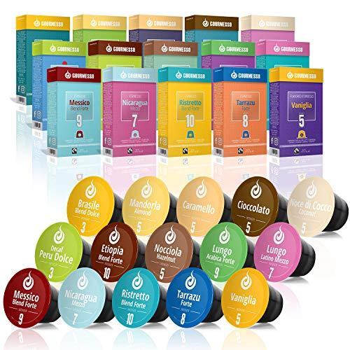 Gourmesso Espresso (Trial Pack, 150 capsules) Espresso Pods for Nespresso Original Line Machines 100% Fair Trade Coffee - Includes Lungos, Flavors, High-Intensity & More