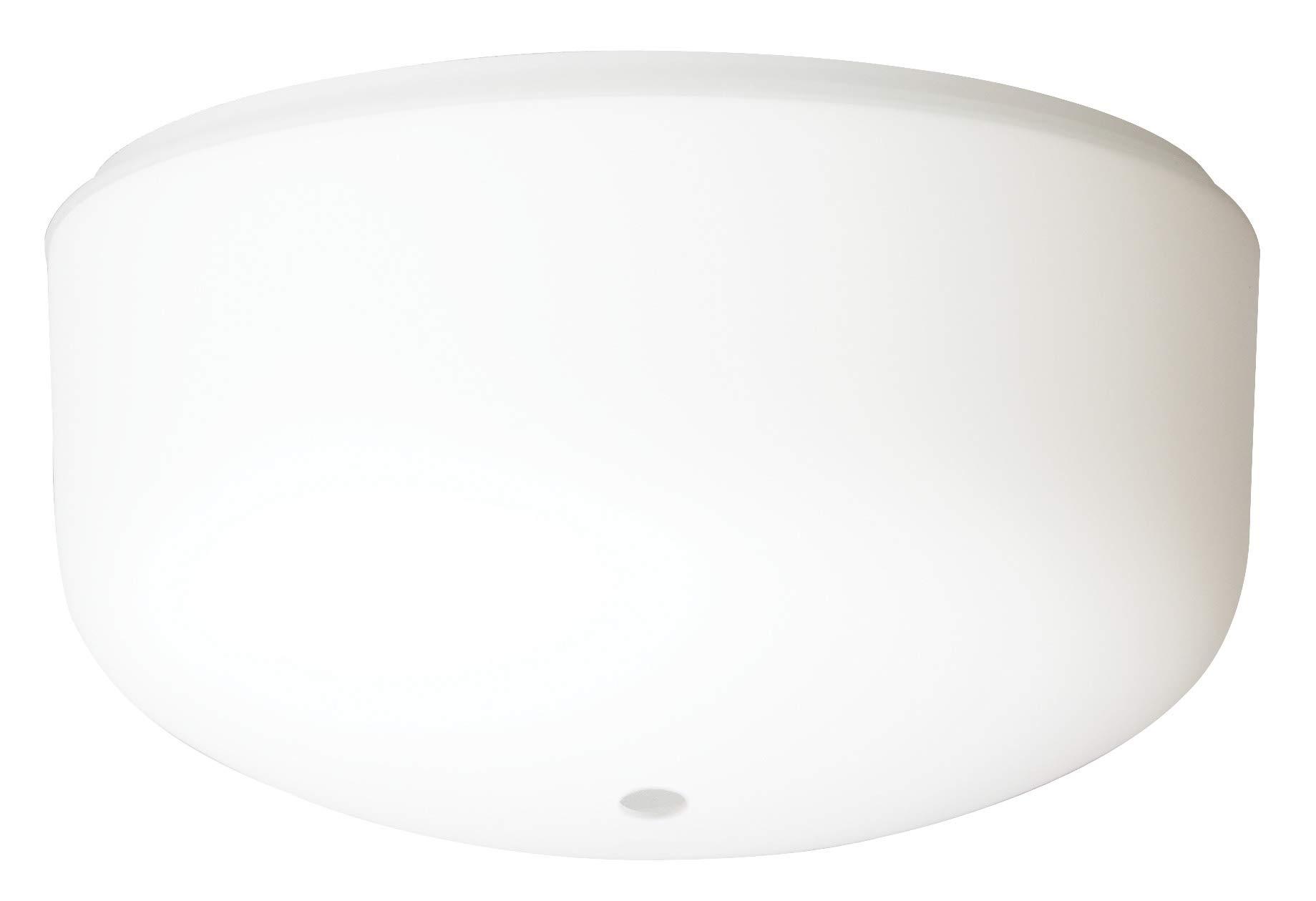 Fluter Lampe de rechange E27 en verre alb/âtre /Ø 30 cm
