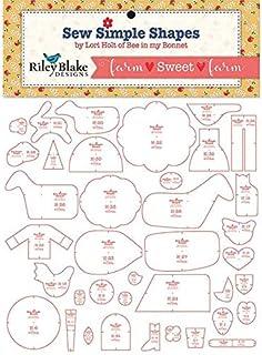 Riley Blake Designs Lori Holt Sweet Farm Sew Simple Shapes, Multi
