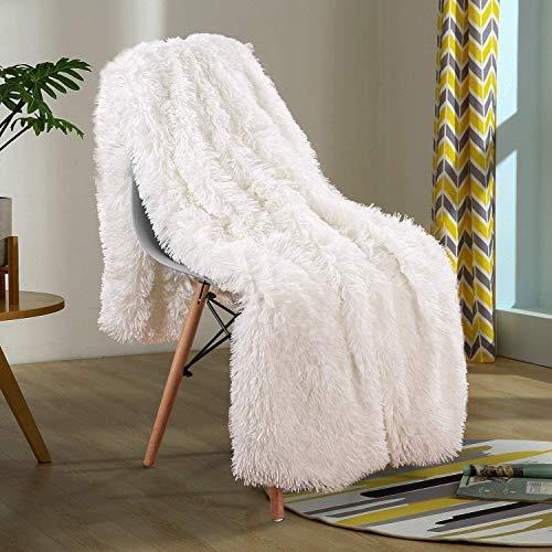 Yaer Kuscheldecke 160 x 200 cm PV longhair Blanket Microfaser Kunstfell TV Decke Tages Klimaanlage...