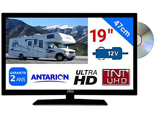 """Televisión TV + DVD LED 18.5"""" HD LED 12V /220 V camping"""