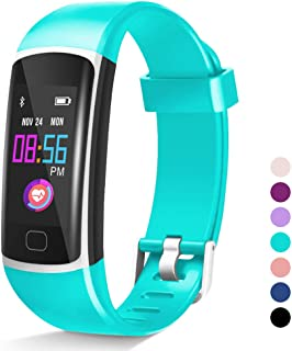 【2020 Version】 Upgraded Fitness Tracker, Waterproof Activity Tracker with Heart Rate Monitor and Sleep Monitor, Step Counter,Calorie Counter,Fitness Watch for Women Men Kids