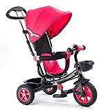 LBBGM Tricycle guidé par Enfants 3 en 1 - Pousser Le Long/Tricycle d'enfants de pédale CE approuvé la Charge Maximum 30kg