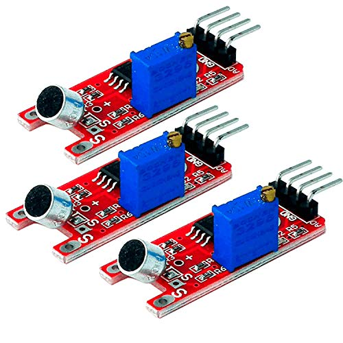 AZDelivery 3 x KY-038 High Sensitivity Sound Detection Small Microphone Module Compatible with Arduino including eBook