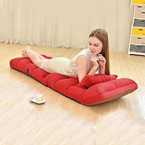 ZHANGRONG- Chaise moderne paresseux chaise de loisirs paresseux moderne -Tabouret de canapé (Couleur : Rouge)