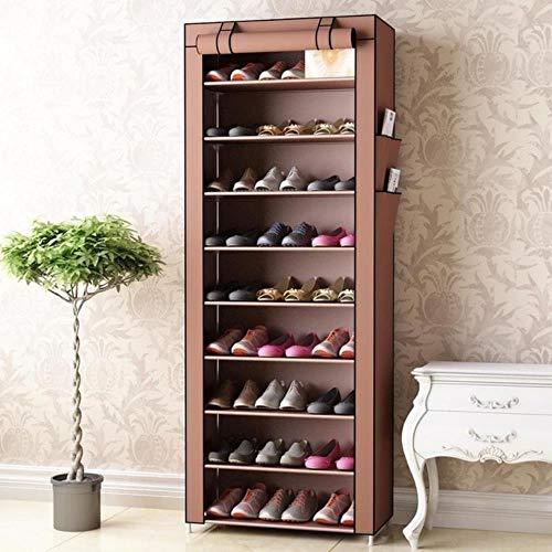 Gabinetes de zapatos no tejidos Tubo de acero reforzado Casa montado re zapato organizador espacio Sr moda zapato gabinete café 10L