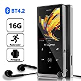 Bluetooth MP3 Player, Wodgreat 2020 New 16GB MP3/MP4 Music Player with FM radio/Pedometer/Video/Voice