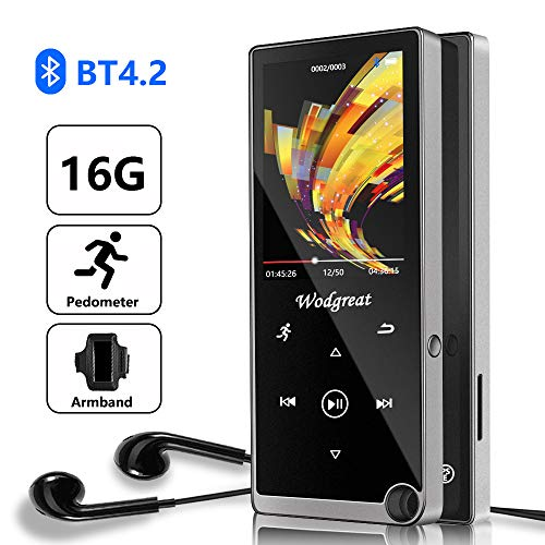 Bluetooth MP3 Player, Wodgreat 2020 New 16GB MP3/MP4 Music Player with FM...