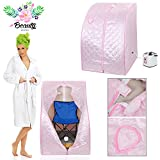 GC Global Direct 2L Portable Home Steam Sauna Spa Slimming Full Body Detox Therapy (Pink)