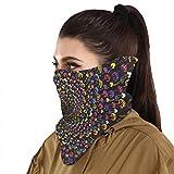 Protección solar Bandanas Espiral Seta Tie Dye Cara Bufanda Cubierta Máscara Cuello Polaina Con 2 Filtros