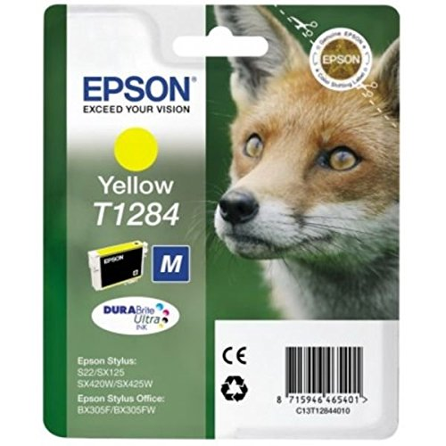 Epson T1284 Fuchs, wisch- und wasserfeste Tinte (Singlepack) gelb