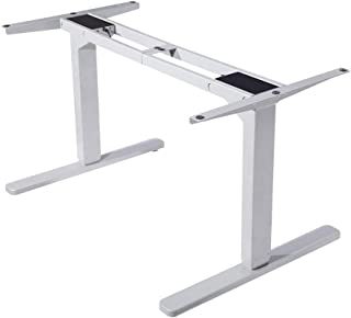 Fortia Motorised Height Adjustable Ergonomic Standing Desk Frame for Office or Home, White