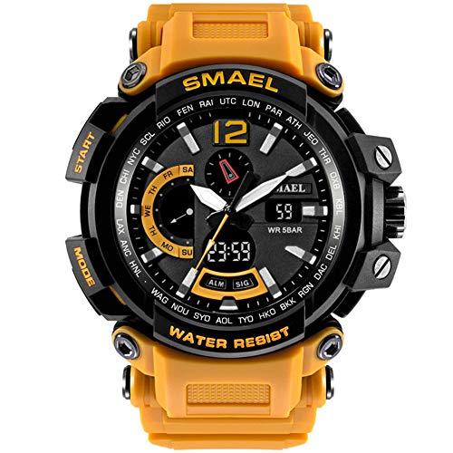 Militäruhren Männer Digital Army Watch wasserdichte 50M Sportuhren S Shock Resistant Große Uhr,B
