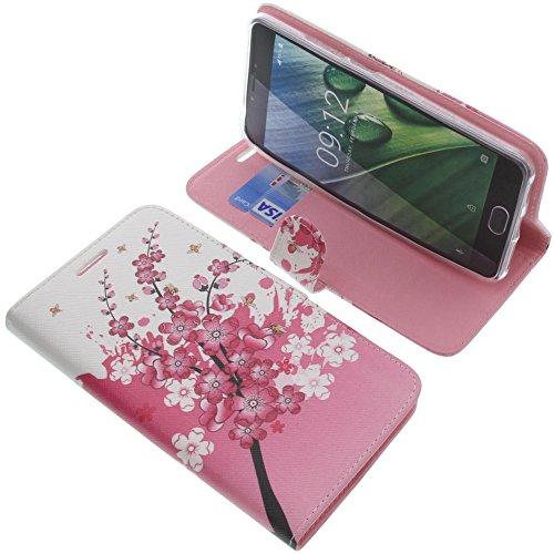 foto-kontor Tasche für Acer Liquid Z6 Plus Book Style Lila Blüte Schutz Hülle Buch
