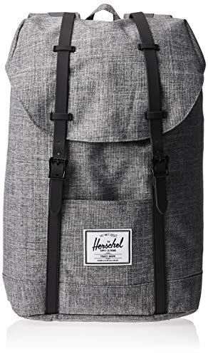 Herschel Retreat Classics Rucksack Unisex, Raven Crosshatch/Black/Black Rubber, Einheitsgröße