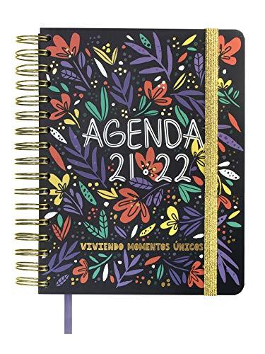 Finocam Agenda 2021 2022 Semana vista apaisada Septiembre 2021, Diciembre 2022 16 meses 4º, 155x220 Vitae 16 meses Negro Español