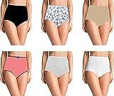 Pepperika Women's (Size XXL) High Waist 100% Cotton Brief Underwear Hipster Maternity Pregnancy