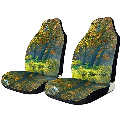 1 Stks Auto's Stoel Cover Pasen Hand Gekleurd Bloemen Ei Print Universele Auto Front Bucket Seat Bescherm Fit Meest Voertuig, Auto's, SUV