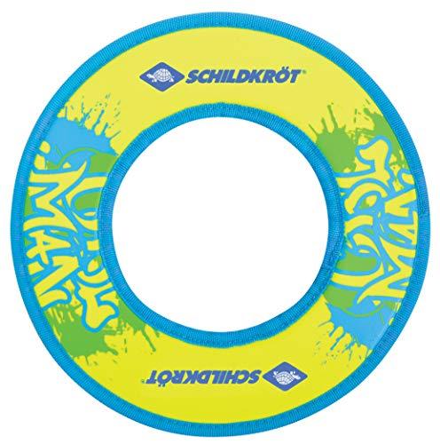 Schildkröt Neopren Ring, Wurfring, Ø 24cm, präziser Flug, gelb-blau, im Blister, 970229