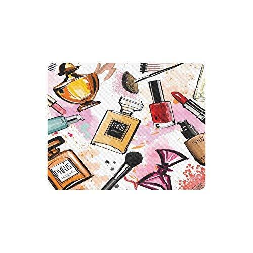 Girly Aquarell Kosmetik Parfums Lippenstift Nagellack Pinsel Rechteck Rutschfeste Gummi Laptop...