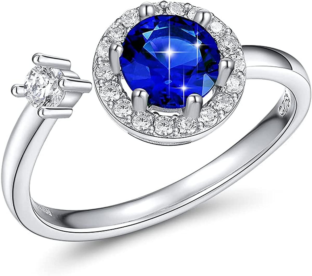 Birthstone Rings for Max 57% OFF Women Girls Womens Sterling Mont Silver 925 Los Angeles Mall