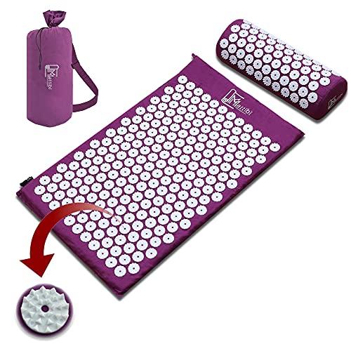 Коврик для акупрессуры для массажа и обезболивания, Набор ковриков Shakti для расслабления | Коврик Янтра, коврик с шипами для медитации, коврик для игл