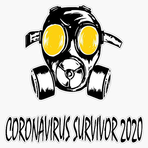Corona-virus Survivor 2020 Decal Vinyl Bumper Sticker 5'