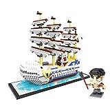 Mr.LQ Bloques De Construcción 3D De Una Pieza Barco Pirata Bloques De Construcción Ladrillos Figura Mini Bloques Set Juguetes