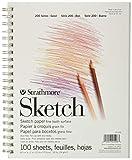 "Strathmore (25-508 STR-025-508 100 Sheet Sketch Pad, 8.875 by 11"", 8.5""x11"""