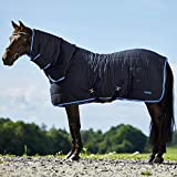 HORZE Glasgow Combo Anti-Slip Stable Horse Blanket with Neck Cover (150g Fill) - Dark Blue - 81