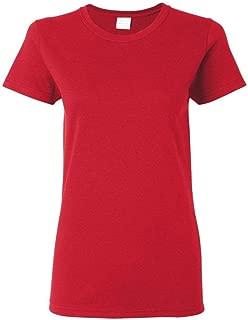 Gildan Women's Heavy Crewneck Cap Sleeve T-Shirt