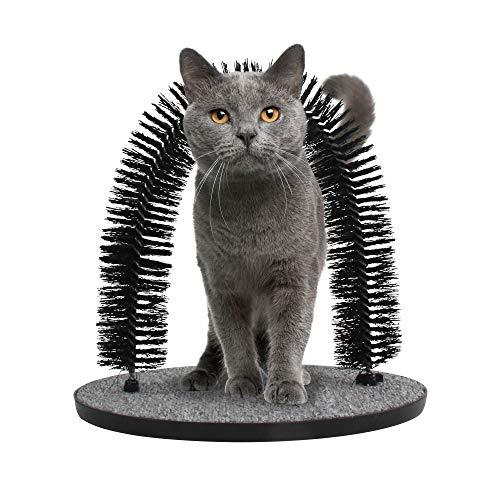 Pet Prime Massage und Enthaarungsbogen für Katzen mit Kratzbürste Fellpflege