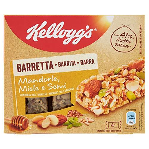 Kellogg's Barretta Mandorle - Miele e Semi - 0.128 kg