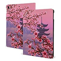 Ipad 10.5 ケース/Ipad 10.2ケース タブレットケース 富士山の桜 Tpu 耐衝撃 超薄 軽量 傷防止 全面保護型 収納可能 手帳型 オートスリープ/ウェイク 三つ折りスタンド スマートケース