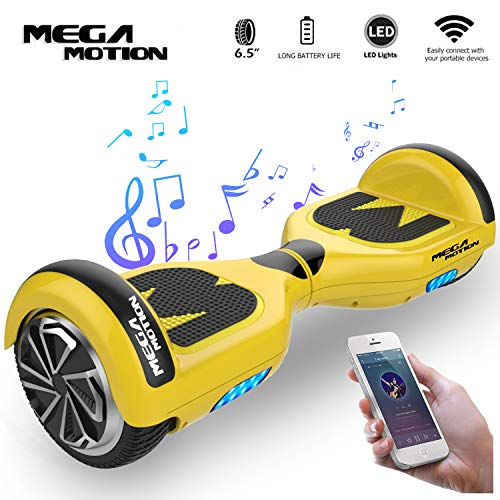 "Mega Motion Hoverboard Self Balance Scooter Elettrico E1-6.5"" Elettrico Segway - Bluetooth - [Sicurezza UL CE]"