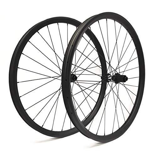 Hulk-sports Carbon Mountain Bike MTB Wheelset 29 inch Carbon Clincher Tubeless Wheelset 25mm Depth 35mm Width Rim Disc Brake Wheels DT350S Boost Hub Front 15X110mm Rear 12X148mm