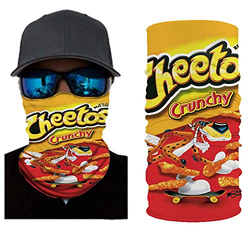 YLAXX Cheetos, 3D Magic Turban, wasserdicht, schnell trocknend, Angeln, Camping, Outdoor-Produkt