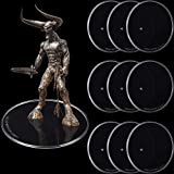 Outus 10 Pieces Plastic Action Figure Display Stands Round Figure Stand Miniature Bases for 6 - 8 Inches Figures (White)