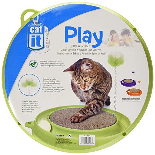 Catit Play-n-Scratch – mit Ball Kratzmatte Feder und Katzenminze - 2
