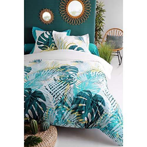 J&K Markets - Funda nórdica de 220 x 240 cm y 2 fundas de almohada (100% algodón de 57 hilos)