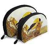 Carduelis Tristis Animal Bird Bolsas portátiles Bolsa de Maquillaje Bolsa de Aseo Bolsas de Viaje portátiles multifunción Pequeña Bolsa de Embrague de Maquillaje con Cremallera