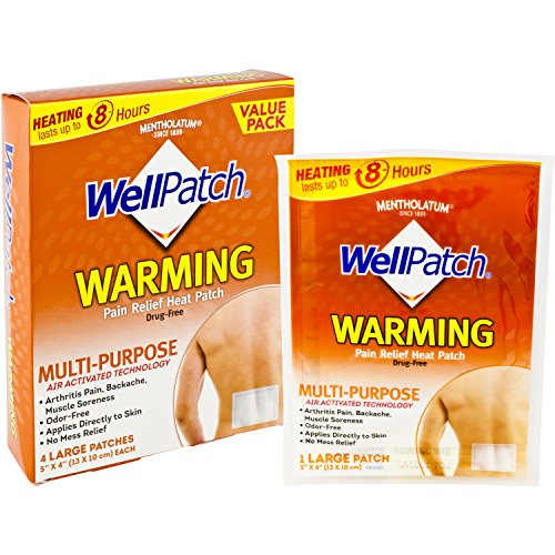WellPatch Warming Pain Relief Heat Patch, 4 large patches, 5