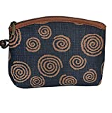 Yamako'Aisibu-zome' Pouch with Japanese うずうず(Swirl) Pattern 88811 Made in Japan
