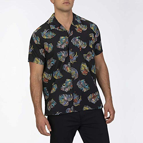 Hurley M Botanical S/Chemises Homme Black FR: 2XL (Taille Fabricant: XXL)