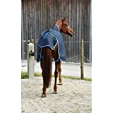 Covalliero Kerbl Outdoordecke RugBe Protect Highneck blau/hellblau Pferdedecke Halsansatz (125)