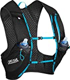CamelBak Nano Vest 17 oz Quick Stow Flask Hydration Pack, Small, Black/Atomic Blue