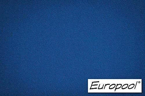 Europool Billardtuch, zugeschnittenes Komplettset Tischgröße 7 ft, Tuchfarbe royal blau