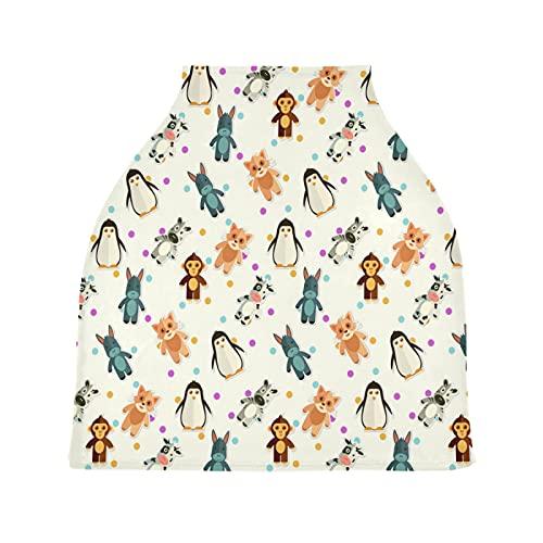 Pingüino Animal La Lactancia Materna Enfermería Cubierta Asiento de Coche de Bebé con Dosel Transpirable Carros de La Compra Cubierta para Bebé